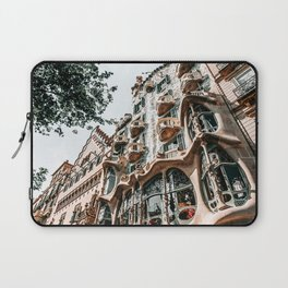 Casa Batllo, Barcelona Architecture, Antoni Gaudi, Spain Travel Landmark, Famous House, Vintage Retro Facade Laptop Sleeve