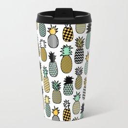 Geometric Pineapples Travel Mug