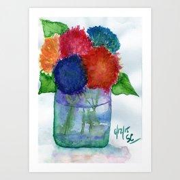 Hydrangea Flower Watercolor Painting Art Print
