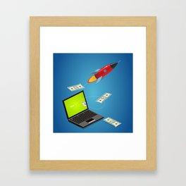 project launch Framed Art Print
