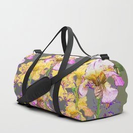 SPRING IRIS GARDEN FLORAL & IVY PATTERN DESIGN Duffle Bag