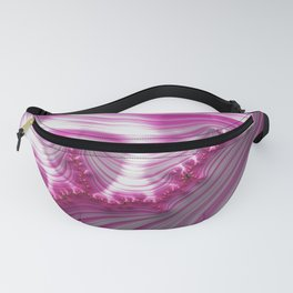 Fractal Art-Pink Striped Candy Fanny Pack