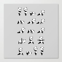 Yoga Bear - Panda Canvas Print