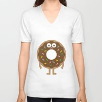 depression V-neck T-shirts featuring It's Not All Rainbow Sprinkles... by David Olenick
