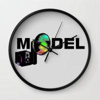 model Wall Clocks featuring Model by Tali Rachelle