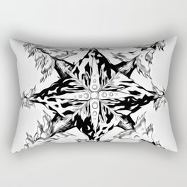 Mountain Dreamin' Mandala Black & White Rectangular Pillow