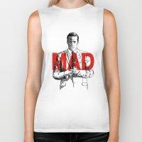 mad men Biker Tanks featuring Don Draper Mad Men by Mark McKenny