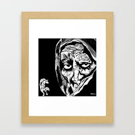 Oh Grandmother What Big Eyes You Have....The Better To See You With My Dear Framed Art Print