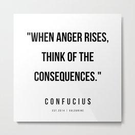 6   | Confucius Quotes | 200202 Metal Print