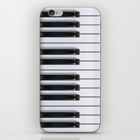 piano iPhone & iPod Skins featuring Piano by rob art | illustration