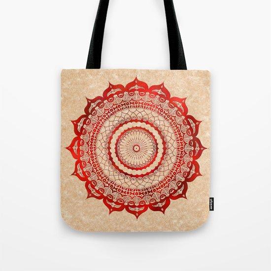 omulyána red gallery mandala Tote Bag
