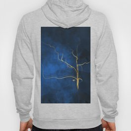 Kintsugi Electric Blue #blue #gold #kintsugi #japan #marble #watercolor #abstract Hoody