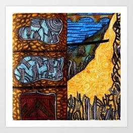 All Tangled Up Art Print