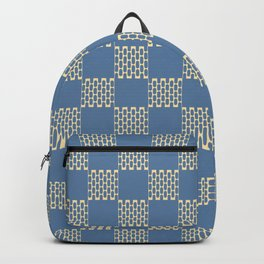 Blue Check Pattern Backpack
