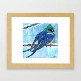 Winter Birds - Swallow Framed Art Print