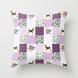 Airedale Terrier pure breed cheater quilt pattern dog lovers by pet friendly Throw Pillow