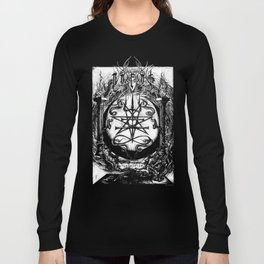 The Dreaming Abyss (Black and White) Long Sleeve T-shirt