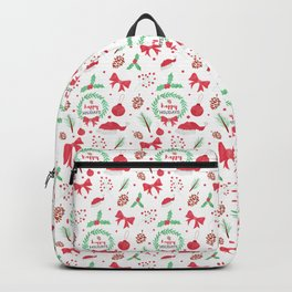 Happy Holidays Watercolor Vector  Backpack