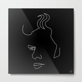 Jim - White on black Metal Print