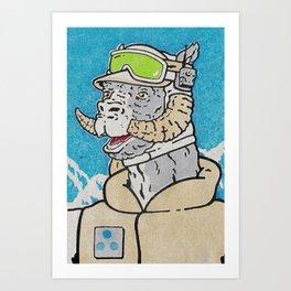 Luke (Hoth) Art Print