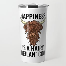 Happiness Is A Harry Heilan' Coo Highland Cow Travel Mug