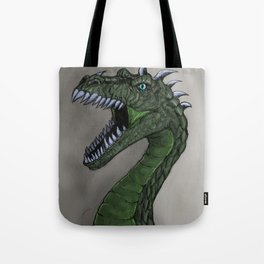 pure emerald dragon Tote Bag