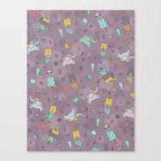 Cat mermaids under the sea. Funny elephant and unicorn kitty. Canvas Print