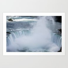 Fog in the Falls Art Print