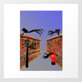 CCTV Creep Art Print
