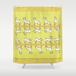 Flipping the Dog Shower Curtain