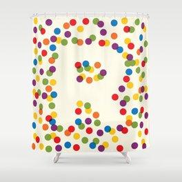 Letter R Initial Cap Shower Curtain