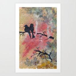 Together - Winter Birds Art Print