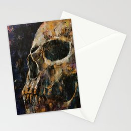 Gold Skull Stationery Cards
