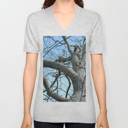 Winter Tree in Beverly, MA Unisex V-Neck