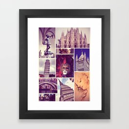 Holidays in Italy. Florenze, Venice. Travel photo collage Framed Art Print