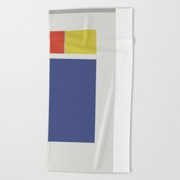 Red, yellow and blue Beach Towel