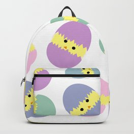 Multi Coloured Easter Eggs with Chicks Backpack