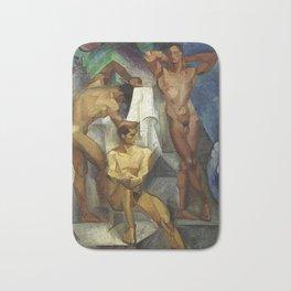 Young Bathers by George Pauli Nude Male Art Bath Mat