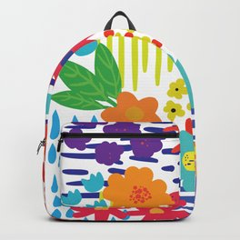 Colorful flowers and Shapes Backpack