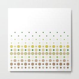Polka Dot Escalation // Chartreuse +Taupe Metal Print