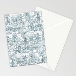 Edinburgh toile denim white Stationery Cards