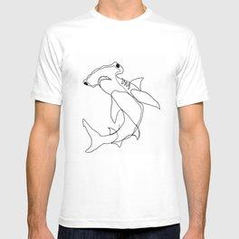 Hammerhead Shark (white) T-shirt