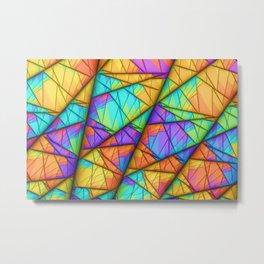 Colorful Slices Metal Print