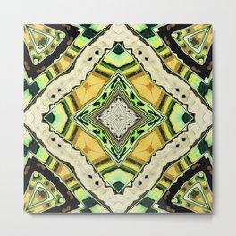 Golden Kaleidoscope Metal Print
