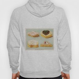 Decorated French Cakes Gateaux, Pastry, petit fours - T. Percy Lewis & A. G. Bromley Poster Hoody