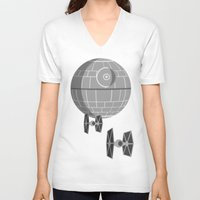 death star V-neck T-shirts featuring Star Wars Death Star by foreverwars