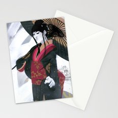 Japanese Woman Street Art Stationery Cards