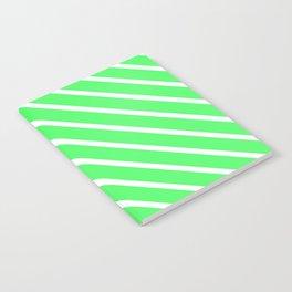 Mint Julep #1 Diagonal Stripes Notebook
