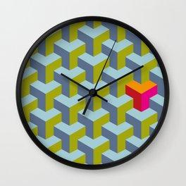 Be yourself - geomtric op art pattern Wall Clock
