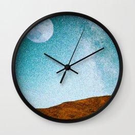 Pastoral Moonrise Wall Clock